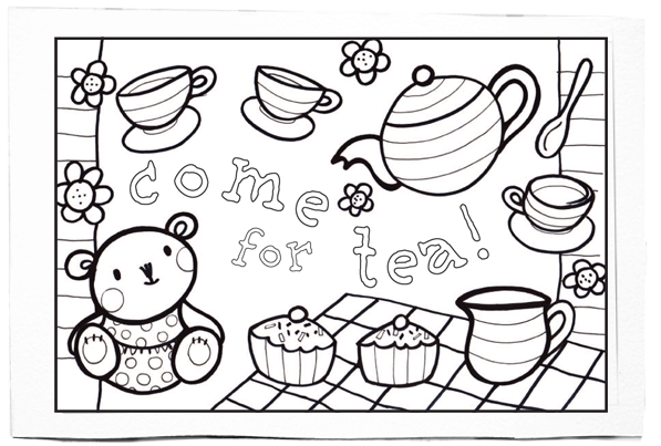 The Way I Live Colouring pages Susie Poole