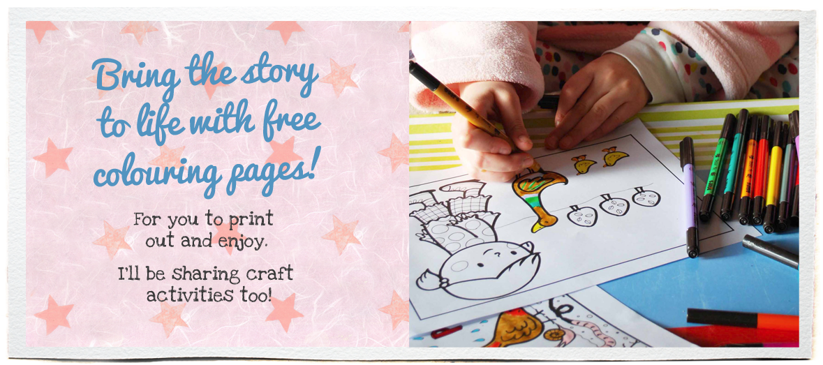Bring the story to life with free colouring pages to print out and enjoy!